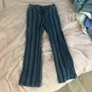 Free people slitted striped pants